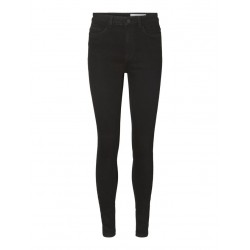 Noisy May Callie Skinny Fit High Waist sort Benlængde 30